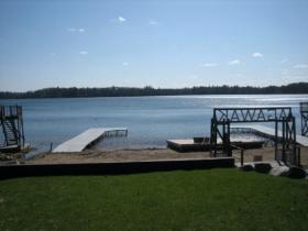 A view onto Blue Lake, Minocqua