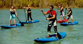 Stand up paddleboarding has been growing more and more common in the Northwoods.