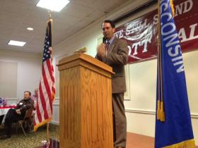 Governor Scott Walker spoke at a luncheon Wednesday hosted by the Oneida County Republican party.