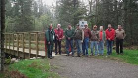 A variety of stakeholders collaborated to improve the Agonikak trail.