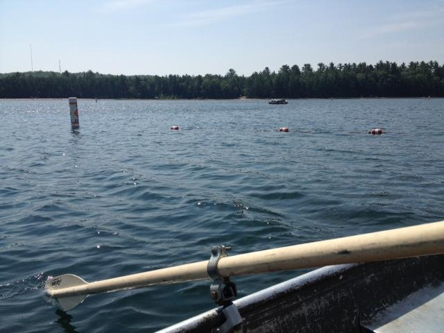 Even up close, it's hard to see much of the GELIs except buoys marking their location.