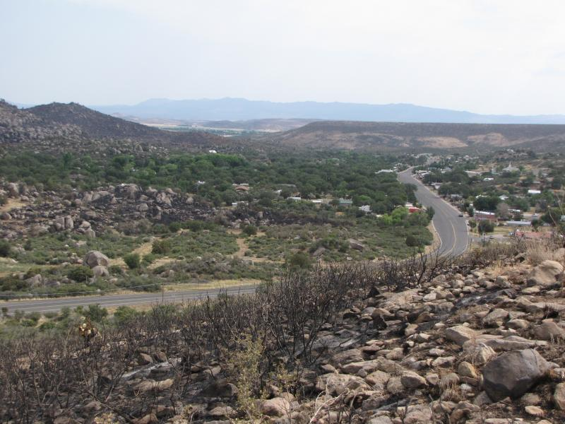The wildfire crossed Highway 89 that runs through Yarnell.