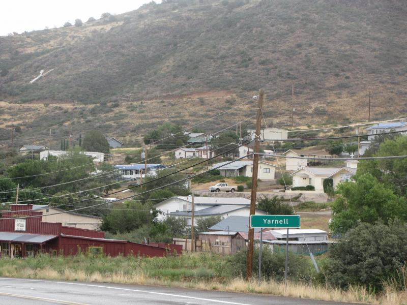 The town of Yarnell, Arizona was evacuated when a wildfire threatened to spread to the town.