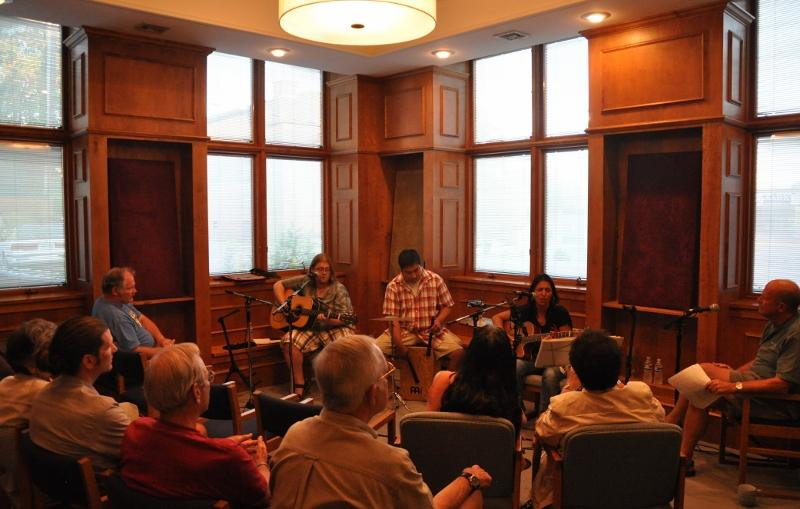 The White Pine Room comfortably seats about 25 people for an intimate concert experience.