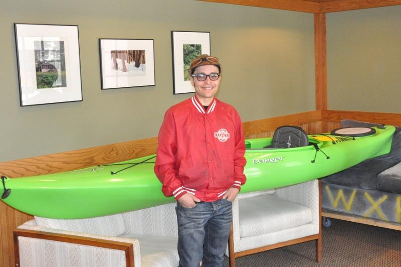 Paul Kage, winner of the Dagger Zydeco Kayak in WXPR's Fall Drawing.