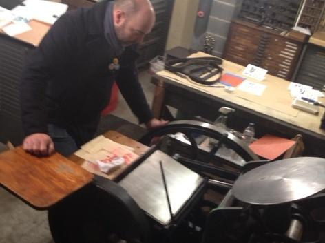 This platen letterpress dates from 1895.