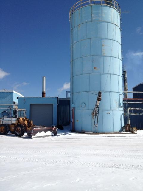 The plant's boiler is fueled by wood scrap waste.