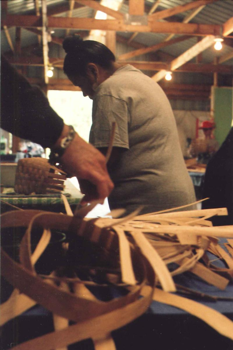 Adults in the 4H class also make baskets.