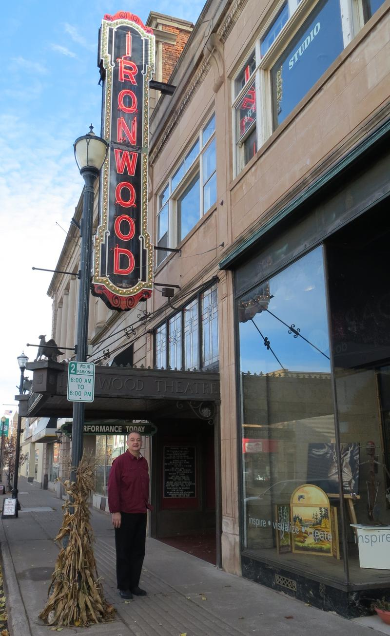 The Historic Ironwood Theatre went dark in the 1980s, but community support helped bring it back.