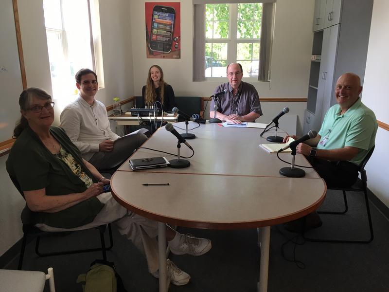Dottie Moffat, Peter Walker, Mackenzie Martin (WXPR), Ken Krall (WXPR), and Dr. Mike Larson