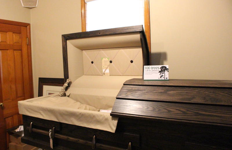 Northwoods Casket Company out of Beaver Dam makes caskets out of recycled wood and they plant 100 trees for every casket they sell.