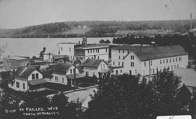 A historic photo of Phelps, WI.