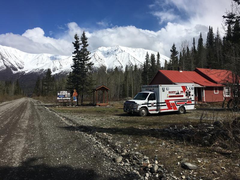 The new ambulance in McCarthy, AK.