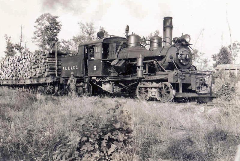 Logging train hauling lumber near Mercer in 1937.