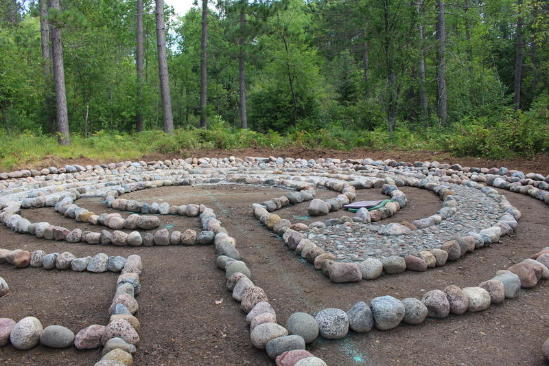 A work in progress: Meghan Wagner's labyrinth project at Treehaven College of Natural Resources in Tomahawk before it was completed.