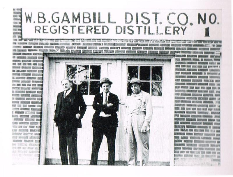 Pictured in the photo is C Everett Beam (center) of Jim Beam fame and W.B. Gambill