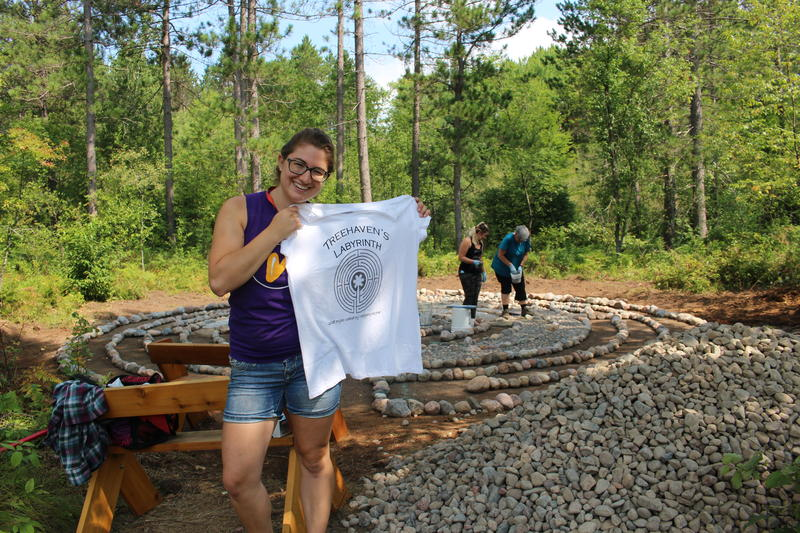 Meghan Wagner screen printed shirts for all of the community members that participated in the project.