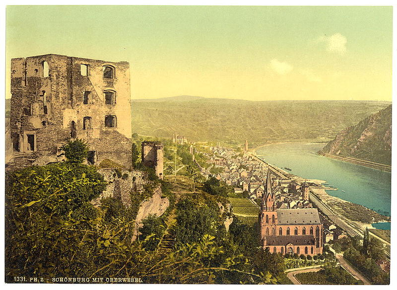 Schonburg and Oberwesel, the Rhine, Germany