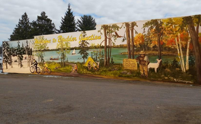 Long talked about mural in boulder junction comes to life for Thank you mural