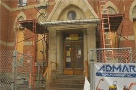 Academy Building built in 1873 now being revitalized into downtown apartment complex