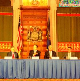 Governor Cuomo met with legislative leaders at the Capitol Wednesday