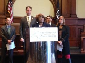 City Councilwoman Loretta Scott, among other officials, raising concerns over fracking in New York.
