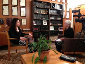 Senator Savino is interviewed by public broadcasting's  Karen DeWitt
