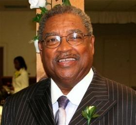 Rev. James Cherry, pastor of Aenon Missionary Baptist Church