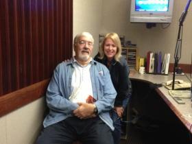 Jack Garner and Beth Adams in the WXXI studio
