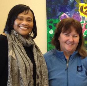 Gilda Goings (left) and Diane Sturmer at Expressive Beginnings Child Care