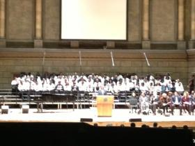 MLK Community Choir in Kodak Hall in Eastman Theater