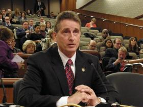 Lieutenant Governor Robert Duffy represents Governor Cuomo at a budget hearing in February of 2011.