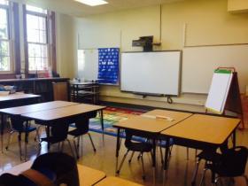 A remodeled classroom at John Williams School No. 5