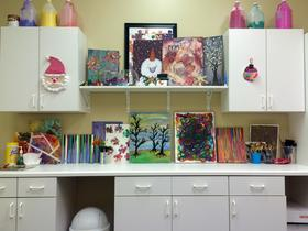 An art room at the Family Autism Center