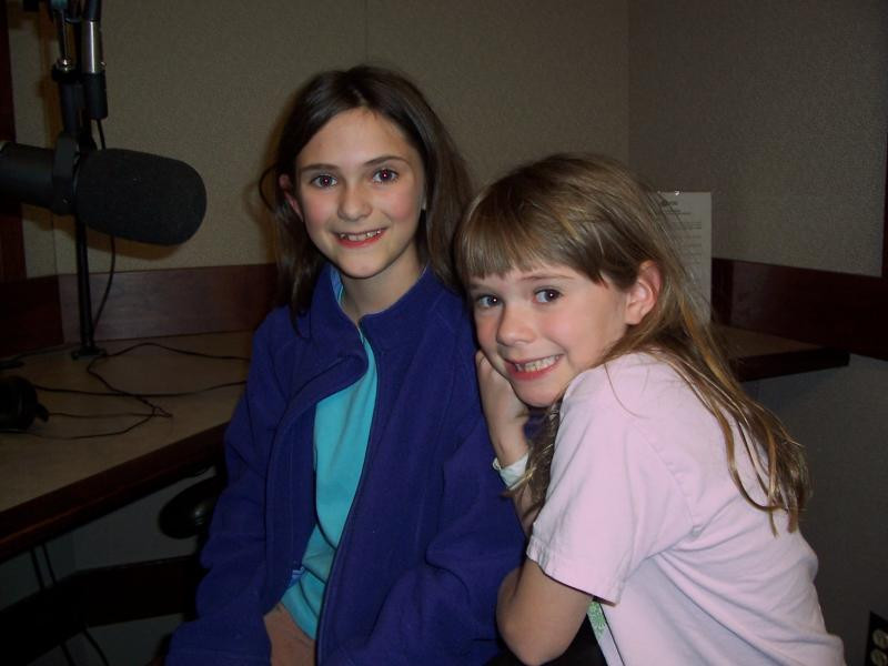 Liza visiting WXXI with her younger sister Hannah.