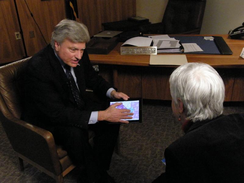 Senator Nozzolio talks to public radio and TV