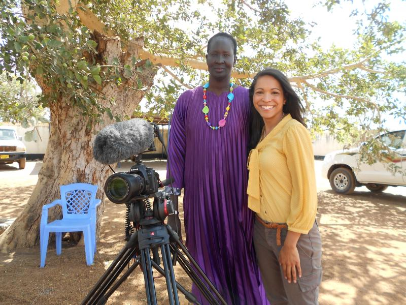 WXXI's Helene Biandudi with Nyandeng Malek, East Africa's First-elected Female Governor
