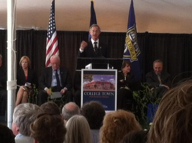 U of R President Joel Seligman at today's ceremony