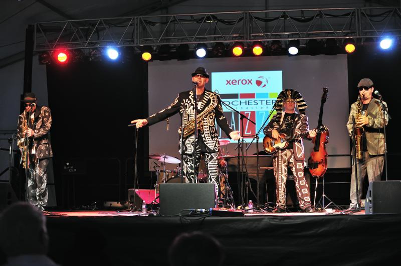 Shuffle Demons were the main attraction at the Unity Health System Big Tent