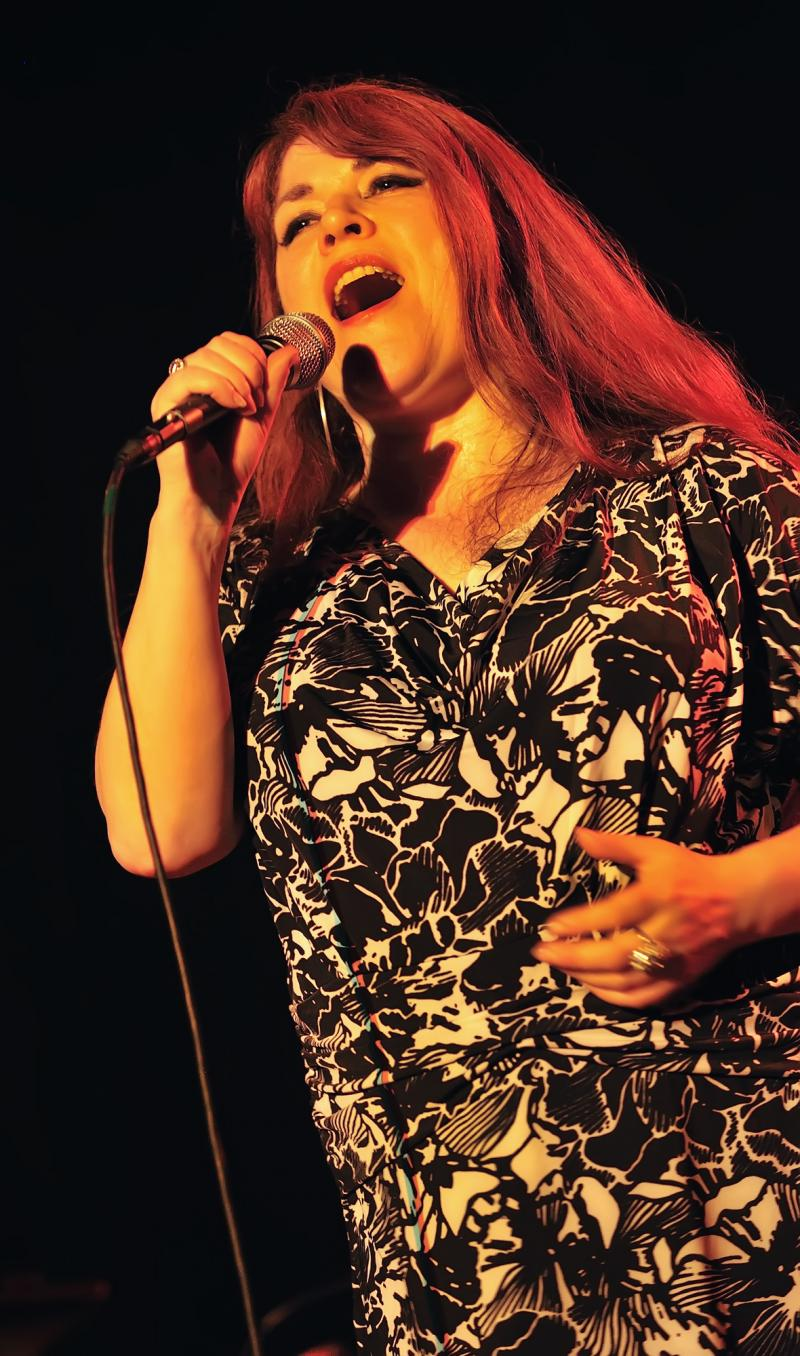 Christine Tobin belts out a tune during her performance at Christ Church