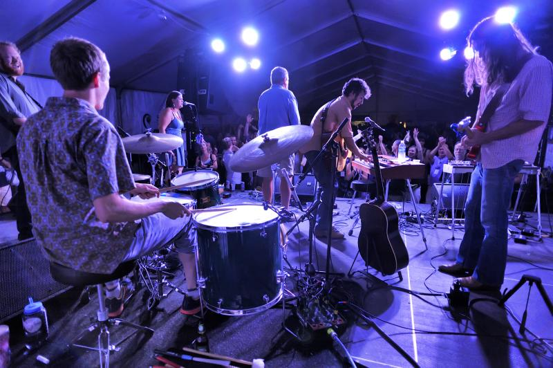 A peek from behind the Black Lillies as they perform at Abilene