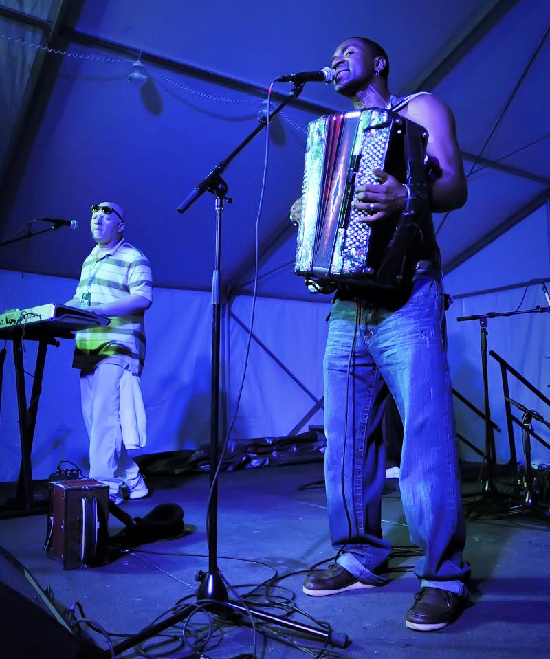 Curley Taylor & Zydeco Trouble rocked the Abilene stage