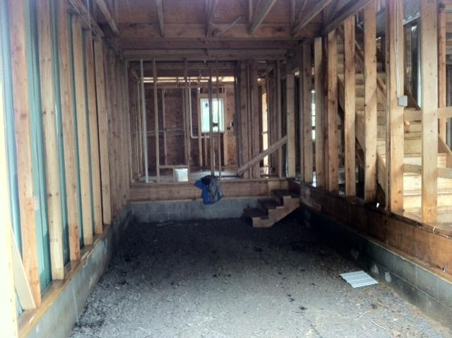 Town home under construction at Greig Square