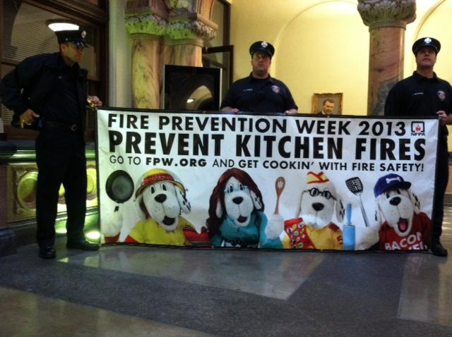 Firefighters stress safety in the kitchen