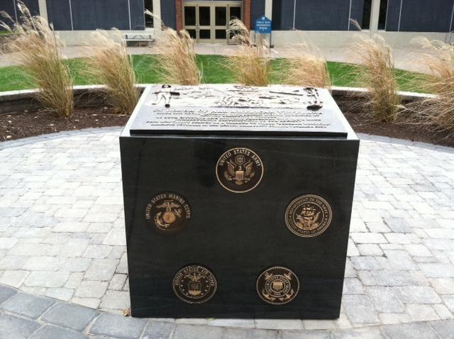 Veterans memorial at MCC