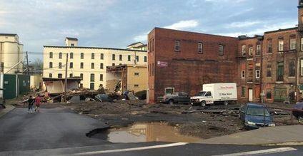 Progress on Basin Street flood repairs in Penn Yan