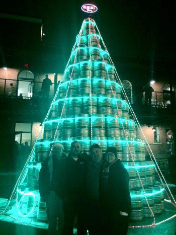 Genesee Brewery Lights Up Beer Keg Christmas Tree Wxxi News