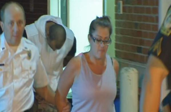 Murder and robbery suspects Donovan Zuhlke and Jessica Soble outside Gates Town Court.