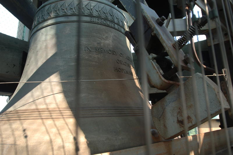 A bell from the Hopeman Memorial Carillon. It is one of only six carillons in New York State.