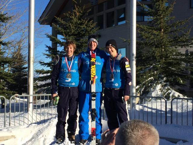 U.S. Ski Team selections in Dec. with 2015 Jr World Champion Harrison Smith (Pittsford) winning, Smith stomped a full, full, full (triple twisting triple flip). Christopher Lillis (Pittsford) and Nick Novak (Park City, UT) were second and third.